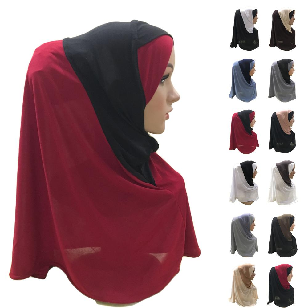 Muslim Women One Piece AI Amira Hijab Islamic Prayer Headscarf Arab Shawl Head Wrap Ladies Party Casual Hijabs Ramadan Cap Hat