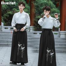 Antiga dinastia han chinês tradicional traje hanfu homens oriental espadachim palco cosplay traje tang terno hanfu robe