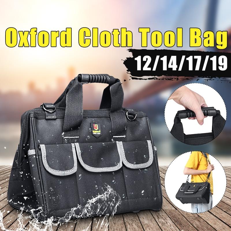 Oxford Tool Bag Waterproof Hand Tool Storage Bag Electrician Bag Large Capacity Tool Storage Bag 12/14/17/19 Inch