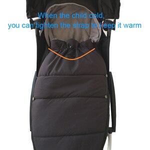 Image 5 - ユニバーサルベビーカーアクセサリー冬の靴下寝袋防風暖かいsleepsackベビーベビーカーfootmuffためbabyzenヨーヨー