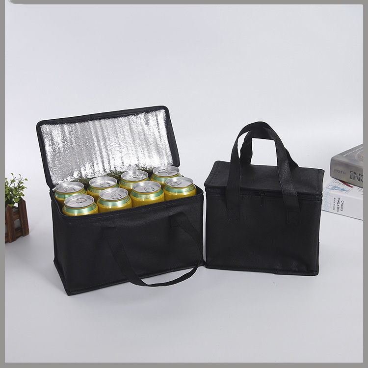 Portable Foldable Cooler Bag Picnic Insulation Bags For Food Packing Container Drink Aluminum Foil Thermal Box Delivery Ice Pack