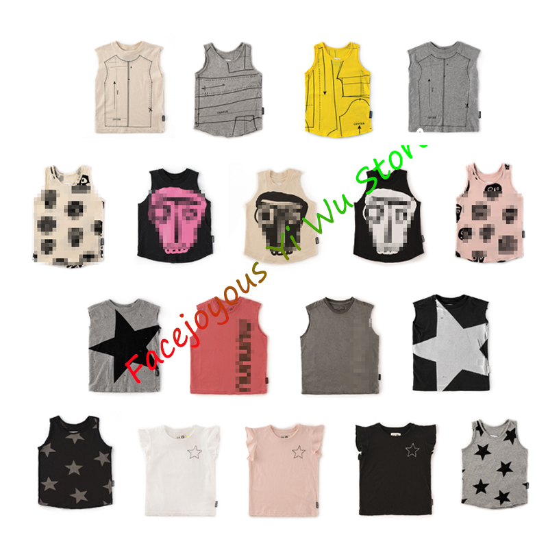 Pre-sale Kids Summer Clothes Collection Boys Vest For Summer Stylish Children Sleeveless Tops Children Robot Letter Print Tanks