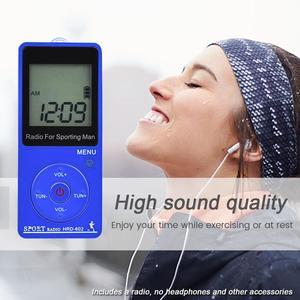 "Image 2 - JINSERTA Tragbare FM/AM Radio Mini Radio Empfänger mit 1,57 ""LCD Display FM76 108MHZ, 9 KHZ/10 KHZ Empfänger mit Stereo Kopfhörer"