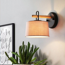 Nordic LED Cloth Study Bedside Lamp Lighting Creativity Wall Sconce Living Dining Room Balcony Decorative Bedroom Cafe Luminaria