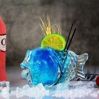 190ml Mermaid Bicchiere di Vino Il Pesce Tazza di Originalità Da Cocktail Tazza di Brandy Ispessimento Birra Cocktail Nave Personalità Decorazione Della Barra