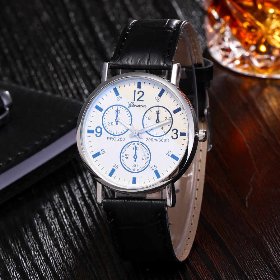 นาฬิกาผู้ชาย CLASSIC นาฬิกาควอตซ์ Blu Ray นาฬิกา Neutral QUARTZ จำลองนาฬิกาข้อมือนาฬิกาของขวัญขนาด YE1