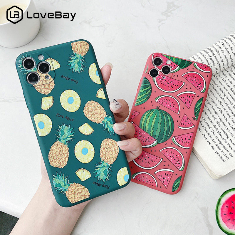 Lovebay Summer Watermelon Pineapple Phone Case For iPhone 11 Pro X XR XS Max 8 7 Plus SE 2020 Camera Protective Soft TPU Cover|Fitted Cases|   - AliExpress