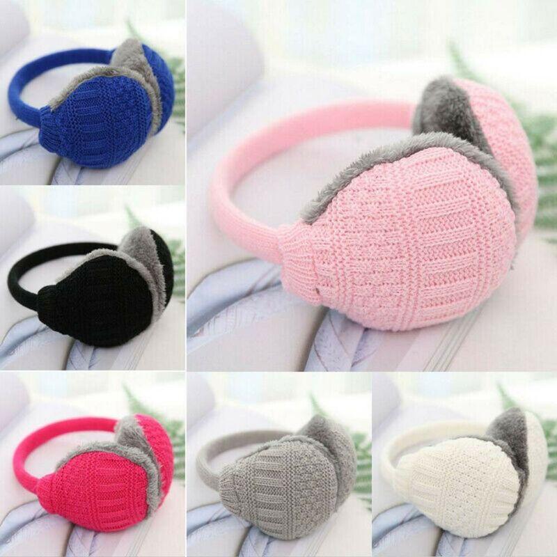 Fashion Ladies Men Girls Boys Winter Knitt Ear Muffs Earmuffs Ear Warmer Plush HeadBand Earlap