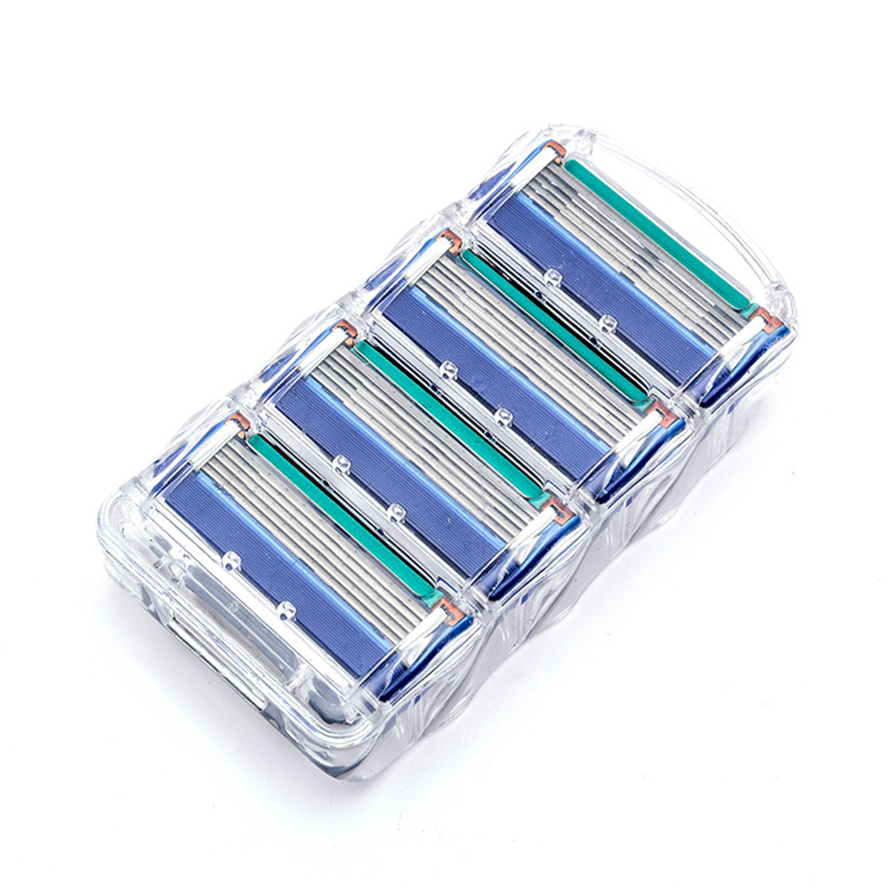 4Pcs/pack Shaving Men Razor Blades High Quality Shaving Cassettes Facial Care Men's Razor Blade Compatible Gillettee Fusione