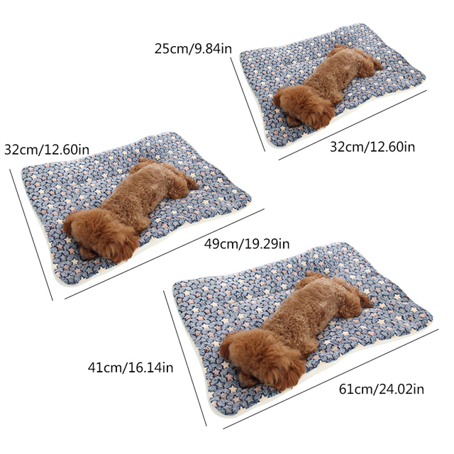 Soft Flannel Pet Dog Blanket Mat Winter Thicken Warm Cat Dog Cushion Sleeping Bed for Small Medium Large Dogs Pet Supplies