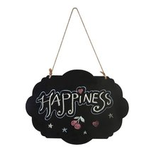 hanging wooden blackboard double…