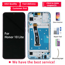 Original For Honor 10 Lite LCD Display For HUAWEI Honor 10 lite Display HRY LX1 Touch Screen With Frame HRY LX2 HRY AL00 HRY LX1