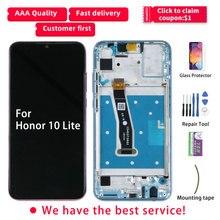 Original สำหรับ Honor 10 Lite จอแสดงผล LCD สำหรับ HUAWEI Honor 10 Lite จอแสดงผล HRY LX1 Touch หน้าจอกรอบ HRY LX2 HRY AL00 HRY LX1