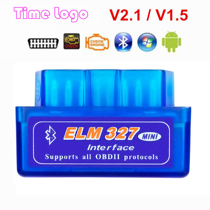 Obd2 escáner Mini elm327 Bluetooth V2.1/V1.5 OBD2 herramienta de diagnóstico del coche ELM 327 Bluetooth para Android/Symbian para OBDII Protocolo Super Mini Elm327 Bluetooth OBD2 V1.5 Elm 327 V 1,5 OBD 2 herramienta de diagnóstico del coche escáner Elm-327 OBDII adaptador herramienta de diagnóstico automático