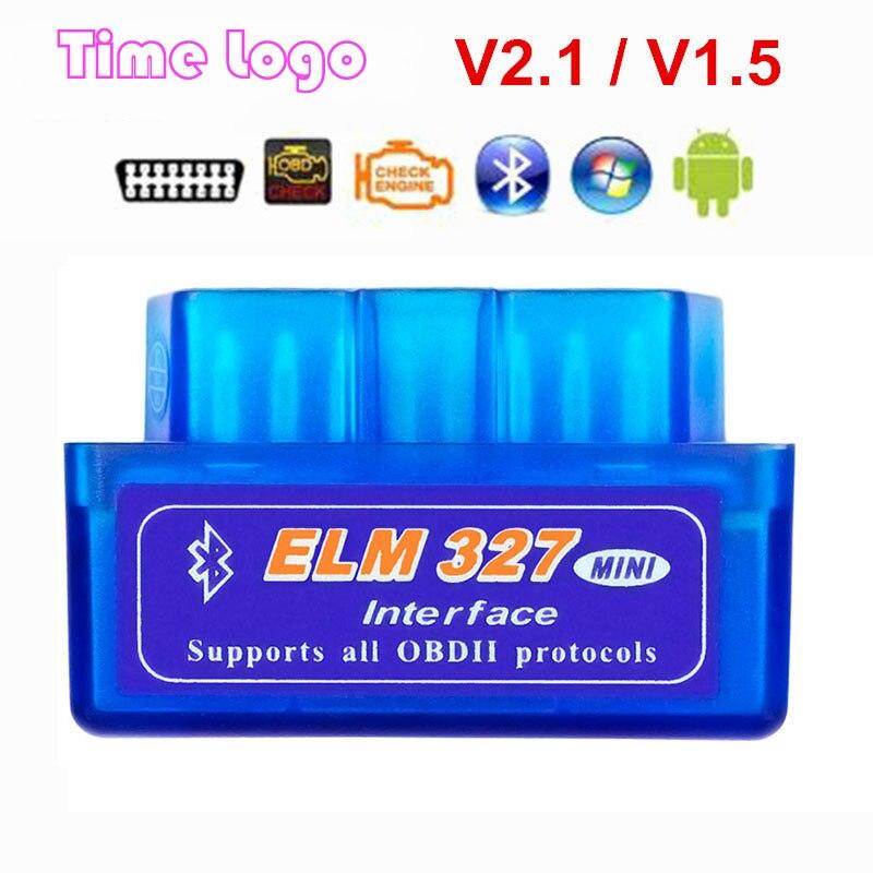 Obd2 Scanner Mini Elm327 Bluetooth V2.1 / V1.5 OBD2 Car Diagnostic Tool ELM 327 Bluetooth For Android/Symbian For OBDII Protocol