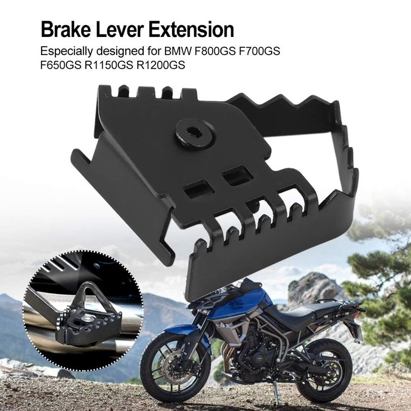 1 PCS Motorcycle Rear Brake Pedal Step Tip Plate Enlarge Extender For BMW F800GS  F700GS F650GS 2008-2015