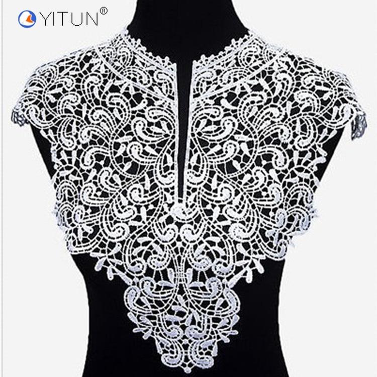 YITUN Outside Single Explosion Polyester Collar Lace Accessories Collar Neckline Fashion Fake Collar Applique for Woman Dress