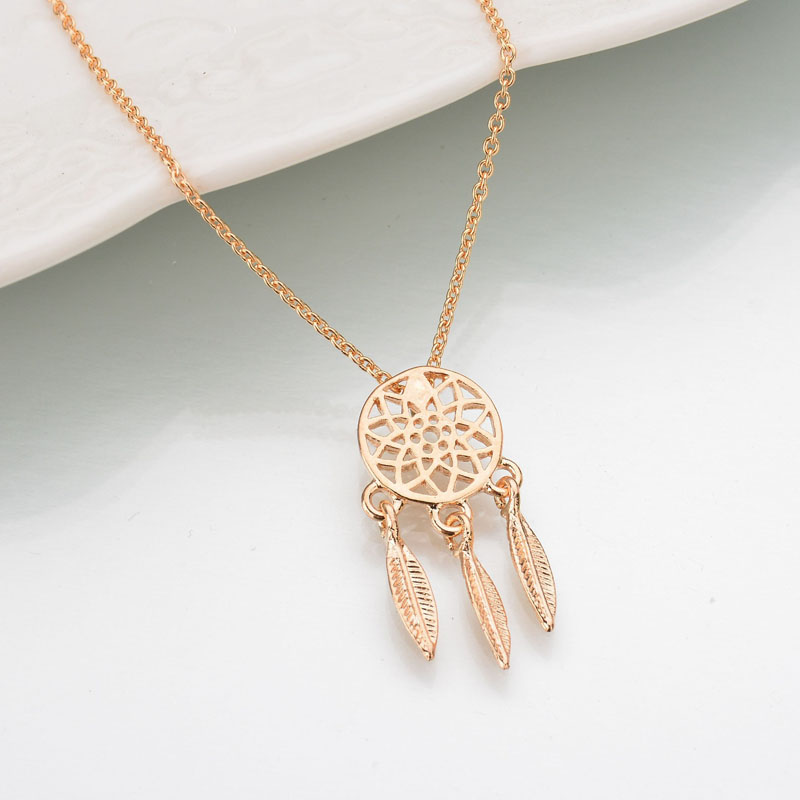 Fashion dream catcher series Jewelry necklace Feather Necklace Long Sweater Chain Statement Jewelry choker Necklace for Women 4