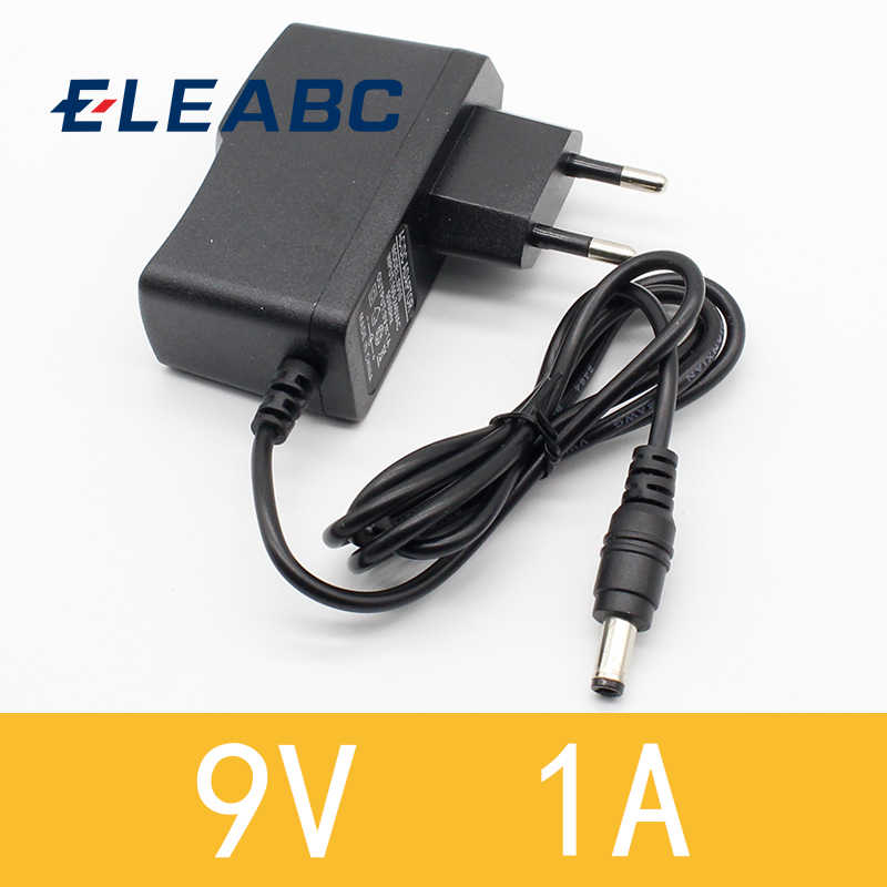 1 stücke 9v 1a dc power adapter eu 5,5mm * 2,1mm interface Power Versorgung 100-240v ac adapter für arduino UNO MEGA