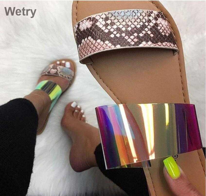 2019 frauen Hausschuhe Flip-Flops Sommer Frauen Kristall Diamant Bling Strand Gleitet Sandalen Casual Schuhe Slip On Slipper