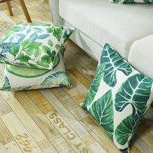 Nordic Simple Pillow Cover Cotton And Linen Green Plant Pringting Throw Cushion Art Sofa Bed Home Decor Drop Shipping