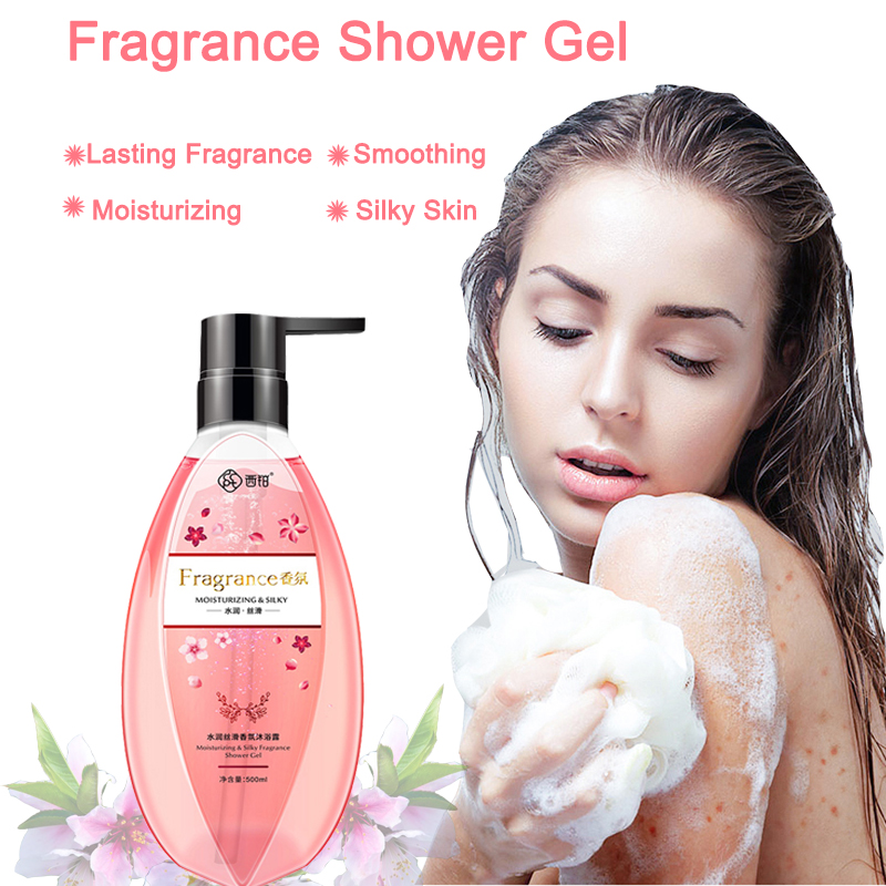 CCPT 500ml Family Perfume Shower Gel Deep Cleansing Bath Foam Lasting Fragrance Shower Gel Moisturizing Hydrating Skin Care