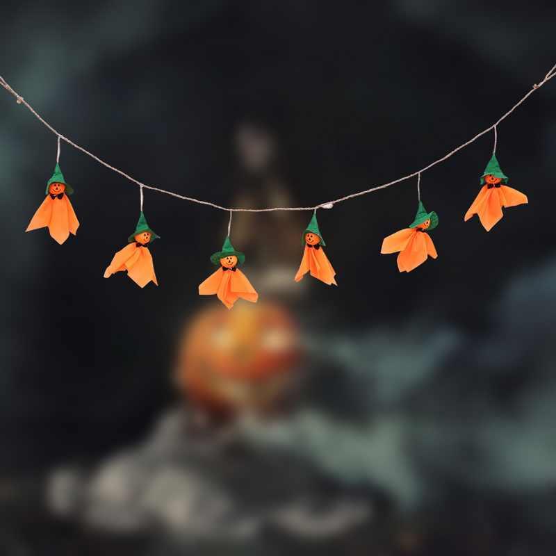 Украшение на Хэллоуин для дома висящий баннер солнечная кукла бандаж баннер Хэллоуин тыква подвесной кулон для макет сцены