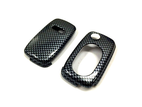 Gloss Gloss Carbon Fiber Print Color Flip Key Remote Key Protection Case For Audi A3 8L   A4 B5   A4 B6   TT MK1   A6 C5