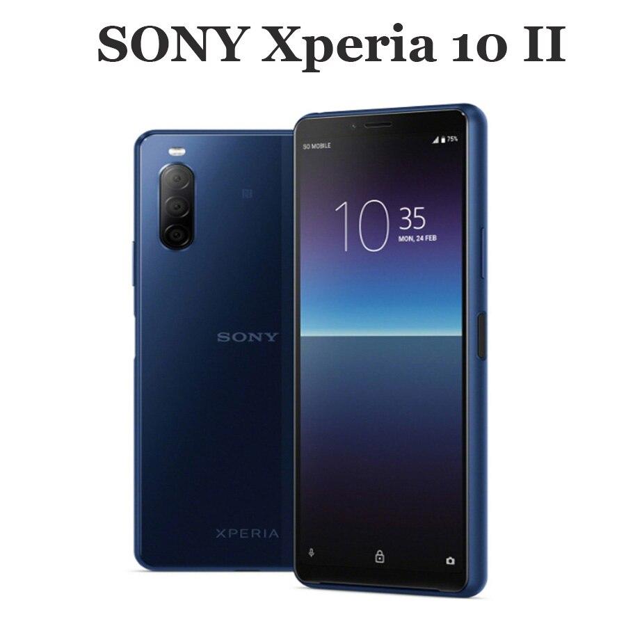 "2020 original sony xperia 10 ii 4g telefone móvel 6.0 ""4gb ram 128gb rom octa núcleo 3600mah nfc 12mp 219 android10 novo smartphone"