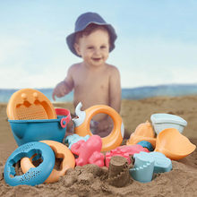 Summer Sand Toys for Beach Children Baby Sports Game Toy Set Safety Kit Funny Toys Bucket Play Sand Water Outdoor Play Set 14pcs(China)