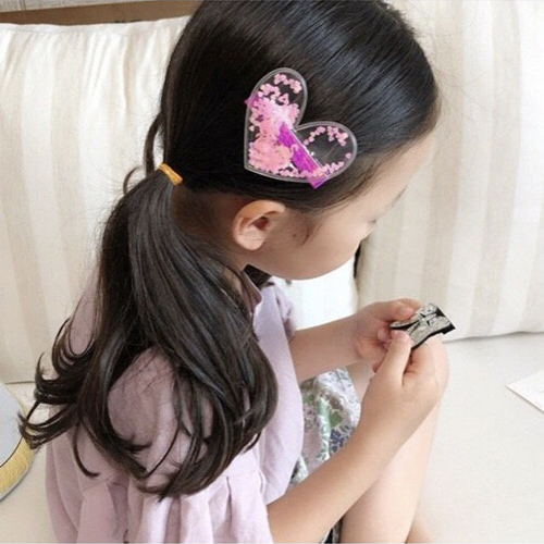 M MISM 2019 Fashion Transparent Sequin Heart Star Children Hairpins For Girls Kids Cute Girls Duckbill Hair Clip Hair Accessorie