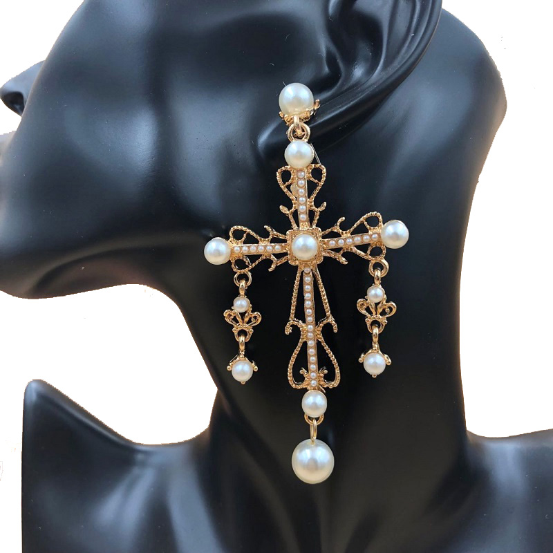 Pearl Wedding Drop Long Earrings