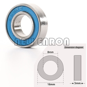 Image 2 - NEW ENRON Blue Ball Bearing 33PCS KIT Metric Rubber Sealed on Two Sides RC Car  FOR Traxxas E Revo Racing 52100 Chrome Steel