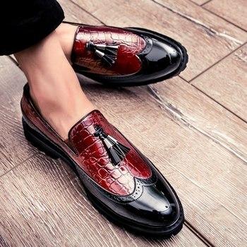 Мокасины мужские из дышащей кожи, повседневные лоферы, удобная офисная обувь для вождения, без застежки, MA-23