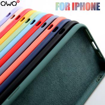 Oryginalny płynny silikonowy luksusowy pokrowiec na Apple iPhone 11 12 Pro Max mini 7 8 6 6S Plus XR X XS MAX 5 5S SE 2020 tylna okładka odporna na wstrząsy tanie i dobre opinie CN (pochodzenie) Bumper For Apple iPhone Liquid silicone phone case Apple iphone ów Iphone 5 Iphone 6 Iphone 6 plus IPHONE 6S