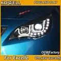 KOWELL автомобильный Стайлинг для Buick Excelle светодиодный головной светильник s для Excelle головной светильник Angel eye светодиодный передний светиль...