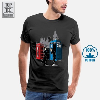 Hot Sale Men Doctor Who Sherlock T Shirt White Short Sleeve O-Neck Dr Who T-Shirt Casual Style Brand Print Tshirt doctor dr who daleks tardis medium t shirt tee shirt van gogh phone booth black 012290