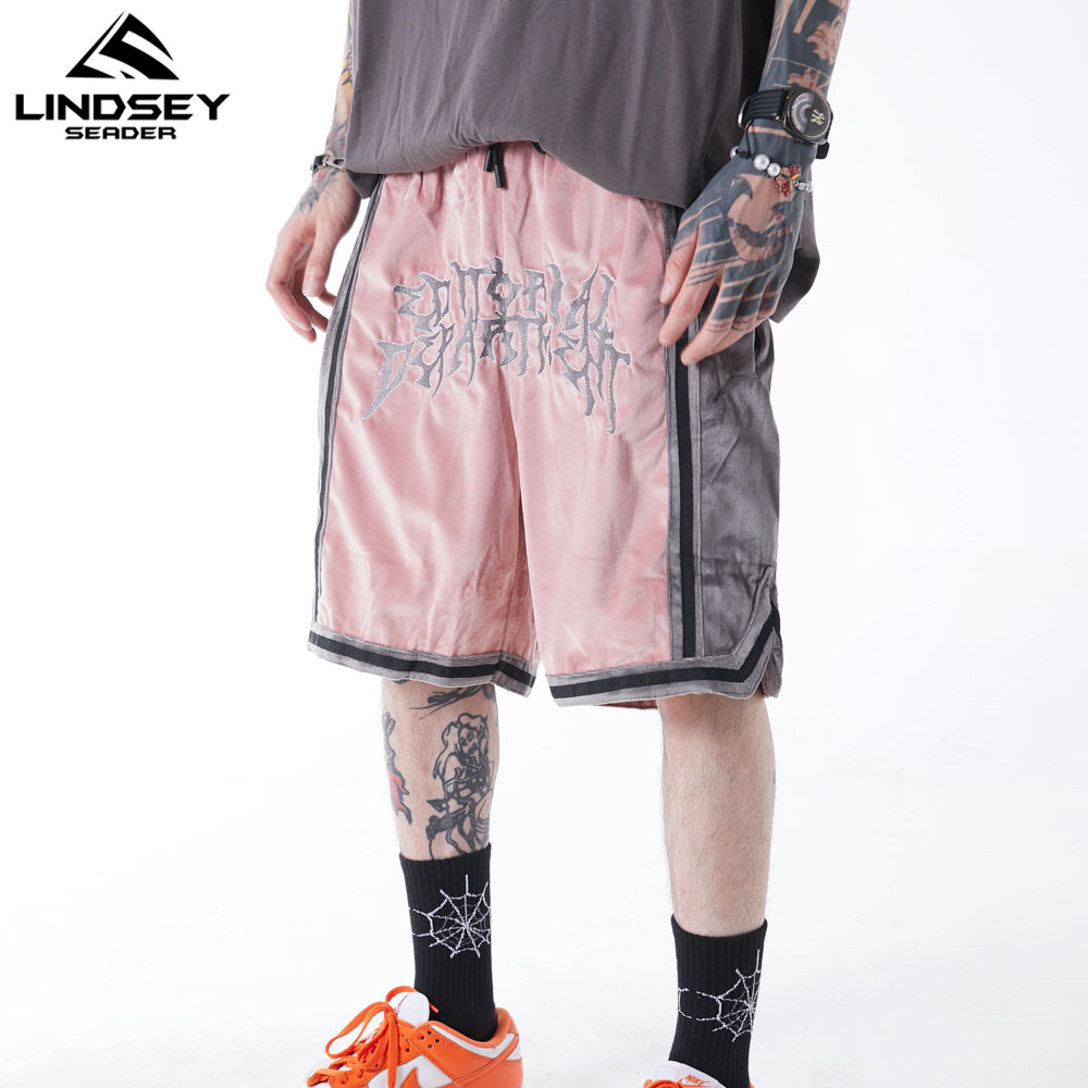 Mens Corduroy Suede Shorts Men Double Stripe Straight Men's Shorts High Street Plain Shorts Basketball Fashion Bottom for Man