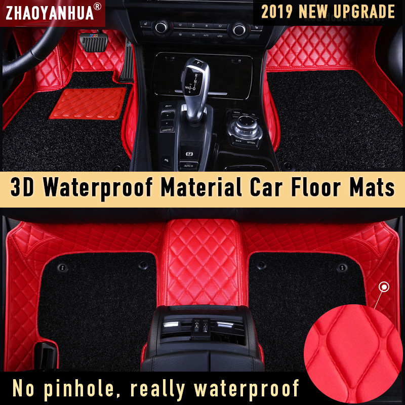 Car Floor Mat for ford fiesta model kia k5 2018 nissan qashqai 2019 Waterproof Car Accessories Leather Floor Mat Carpet Liner image