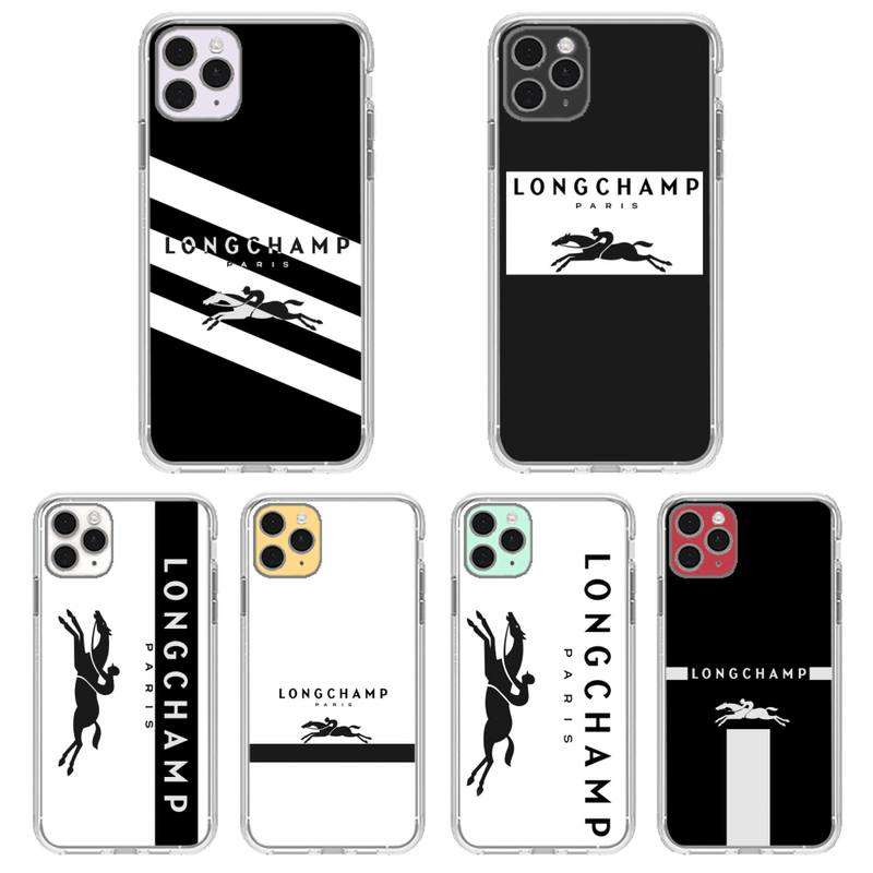 Longchamp Phone Case Transparent For Iphone 11 12 Pro Max Xr X Mini 7 8 PLUS Coque Cover