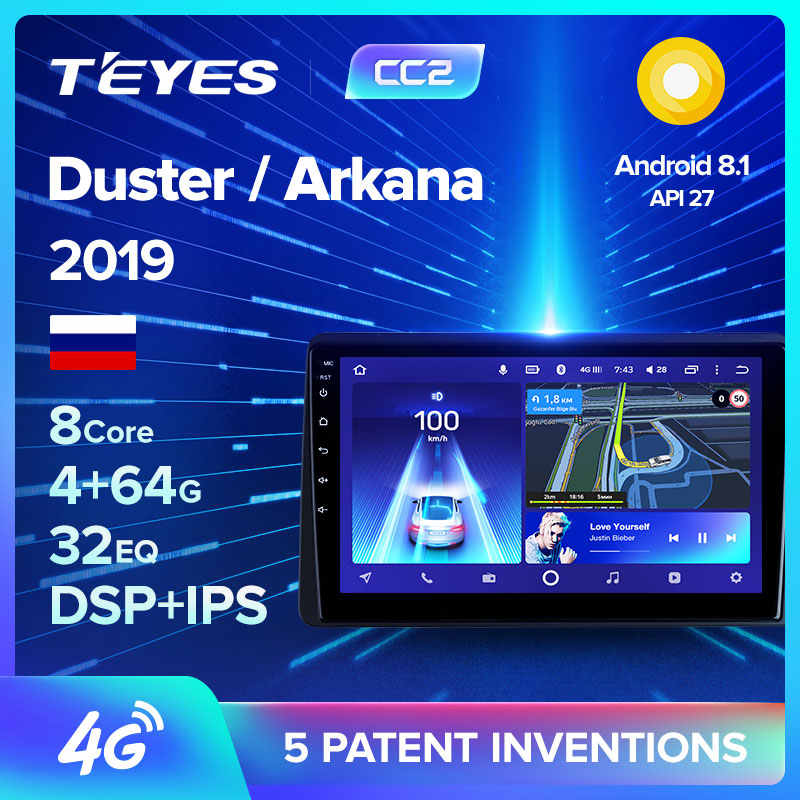TEYES CC2 Per Renault Duster Arkana 2019 Auto Radio Multimedia Video Player di Navigazione GPS Android 8.1 No 2din 2 din dvd