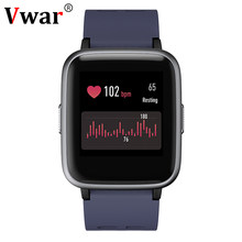 Vwar F9S 2.5D HD Touch Layar Smart Watch Multi-Sport Mode 24 Jam Real Time Heart Rate Monitor smartwatch untuk Apple IOS Xiaomi(China)