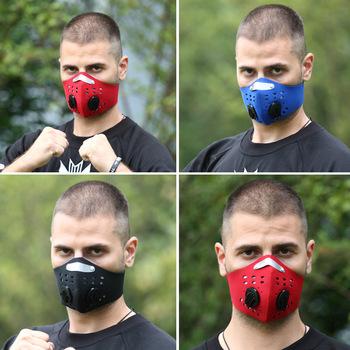 Maska pół przeciwkurzowe filtr zanieczyszczeń rower sportowy rower tanie i dobre opinie YUKUI Chin kontynentalnych Ochrona przed kurzem NONE Jednorazowego użytku Dla dorosłych Maski Nylon
