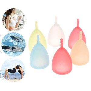 S/L Size Hygiene Reusable Menstrual Cups Lady Medical Grade Silicone Menstrual Cup Feminine Hygiene Menstrual Period Cup