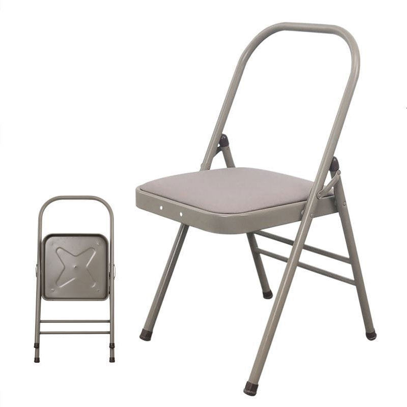 Professional Yoga Chair Auxiliary Chair Bold Thickening Iyengar Folding Chair Fitness Auxiliary Frame