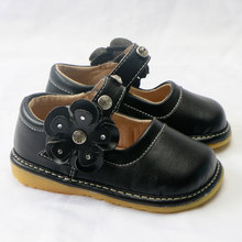 The girl Shoes Genuine Leather Children's Shoes Kids Casual Flats Sneakers Toddler Vintage  Black Dress Shoes  Mary Jane baby