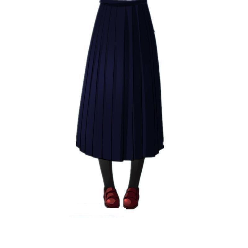 Японская школьная форма для девочек, регулируемая однотонная плиссированная юбка, 90 см, Jk, черный, темно-синий цвет, для старшеклассников, для студентов, в школьном стиле - Цвет: navy skirt 90cm