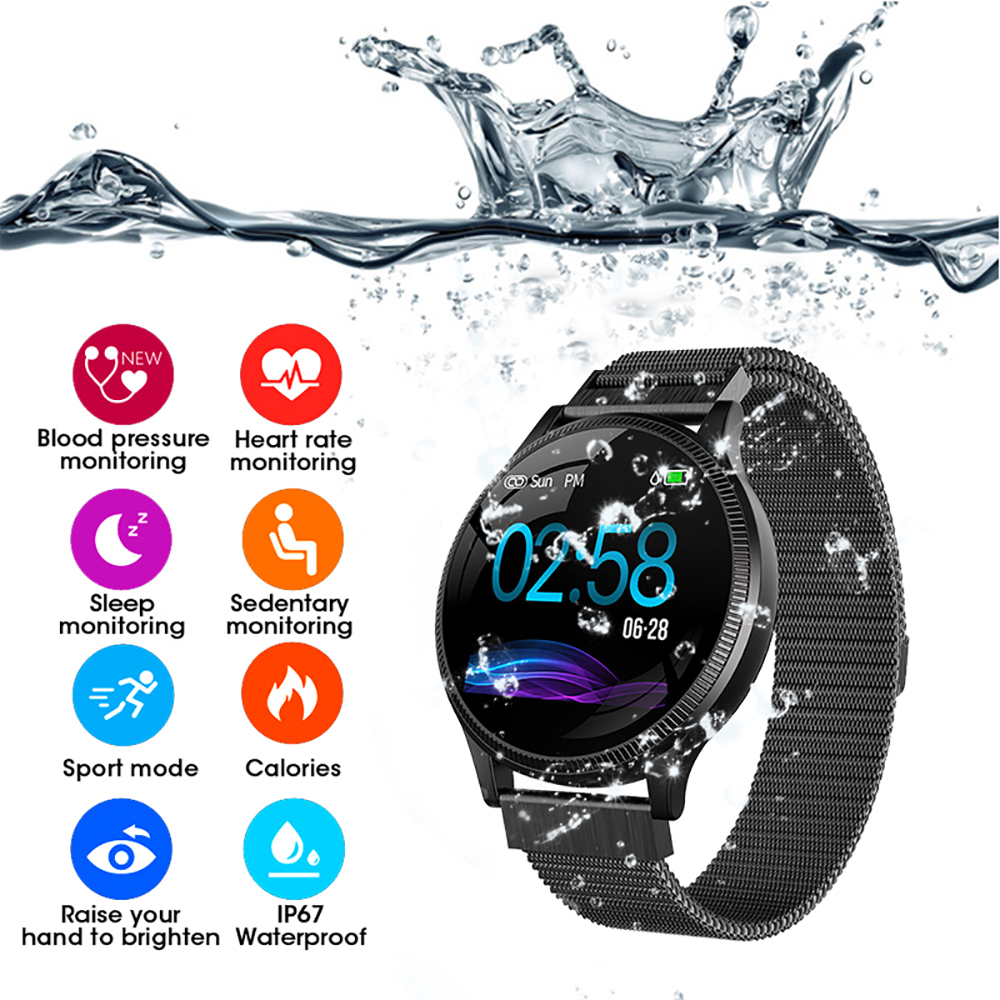 Sports Health Smart Watch 1.22 inch Magnetic Strap Fitness Tracker IP67 Waterproof Heart Rate Monitor Smartwatch for IOS Android (3)