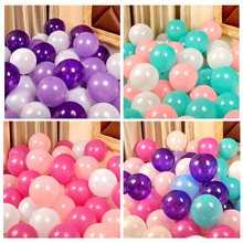 50pcs 10 inch wedding room party layout birthday holiday decoration latex arch balloon matte round