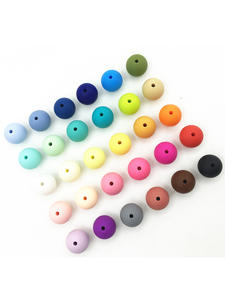 Loose-Silicone-Beads Baby Beads Chew 15mm Bpa-Free 100pc for Teething Necklace